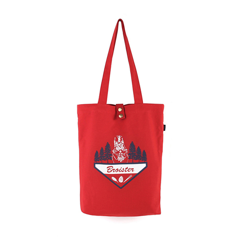 [BROISTER]LAFS CANVAS TOTE BAG RED